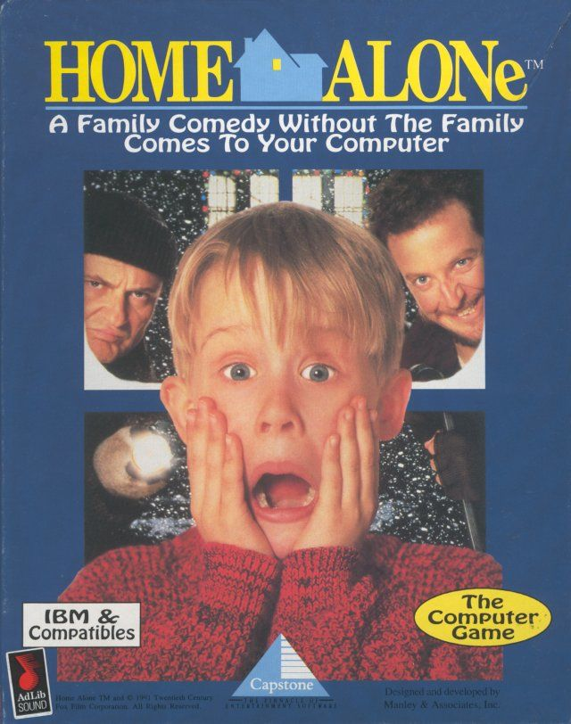 Home Alone DOS Front Cover