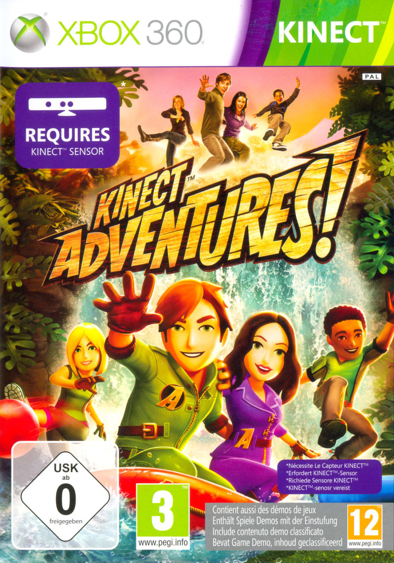 Kinect Adventures! Xbox 360 Other Keep Case - Front