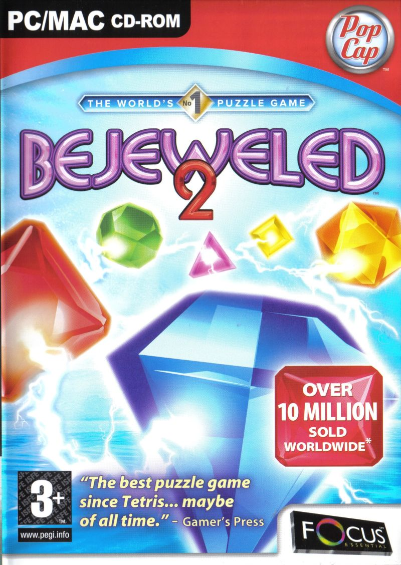 Bejeweled 2: Deluxe Macintosh Front Cover