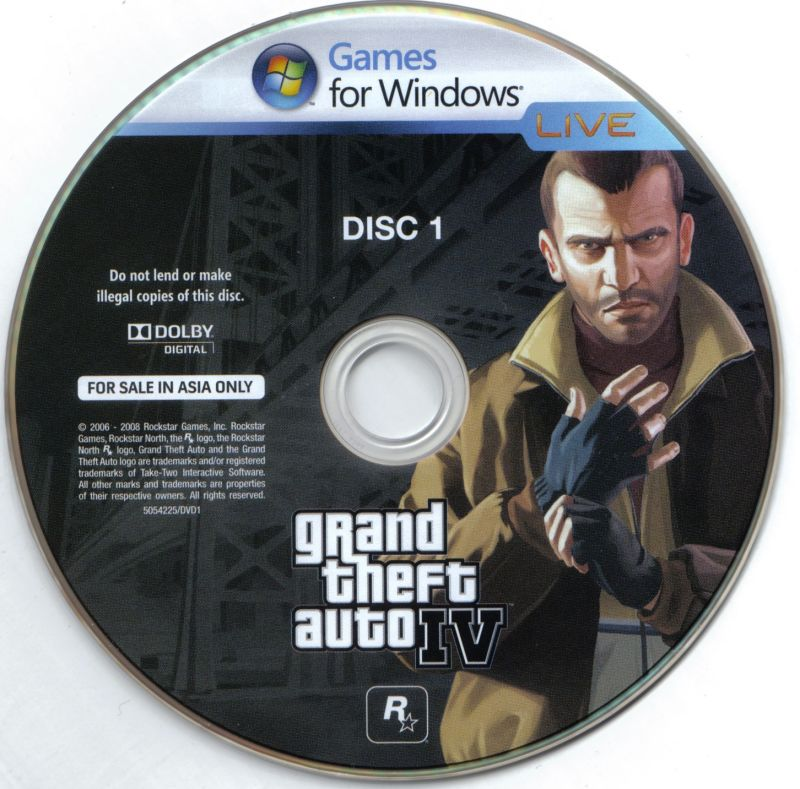 Grand Theft Auto IV Windows Media Disc 1