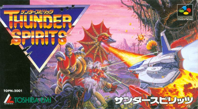 Thunder Spirits SNES Front Cover