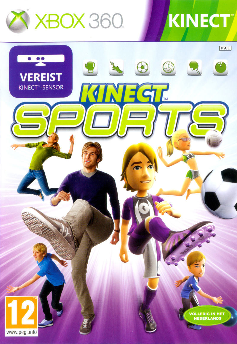 Xbox 360 Game Front Covers Kinect Sports (2010) X...