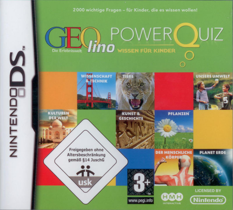 Power Quiz: GEOlino Nintendo DS Front Cover