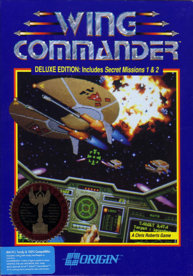 Wing Commander: Deluxe Edition DOS Front Cover