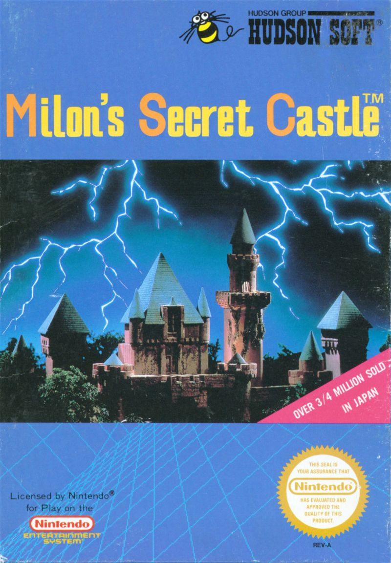 Milon's Secret Castle NES Front Cover