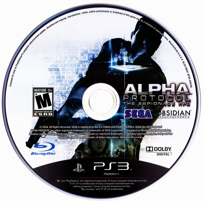 Alpha Protocol PlayStation 3 Media