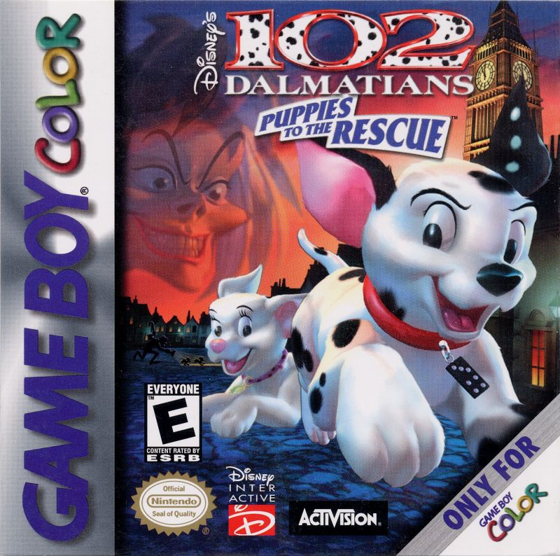 Disney's 102 Dalmatians: Puppies to the Rescue Game Boy Color Front Cover