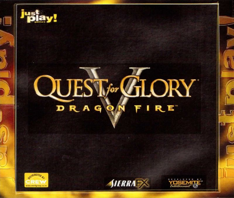 Quest for Glory V: Dragon Fire Windows Other Jewel Case Back Cover