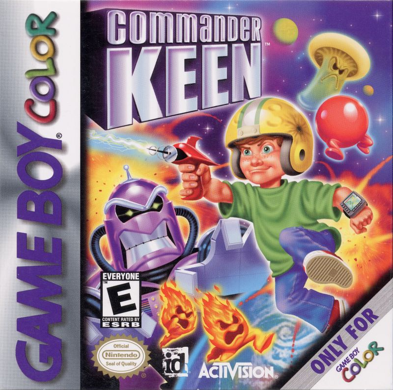 Commander Keen Game Boy Color Front Cover