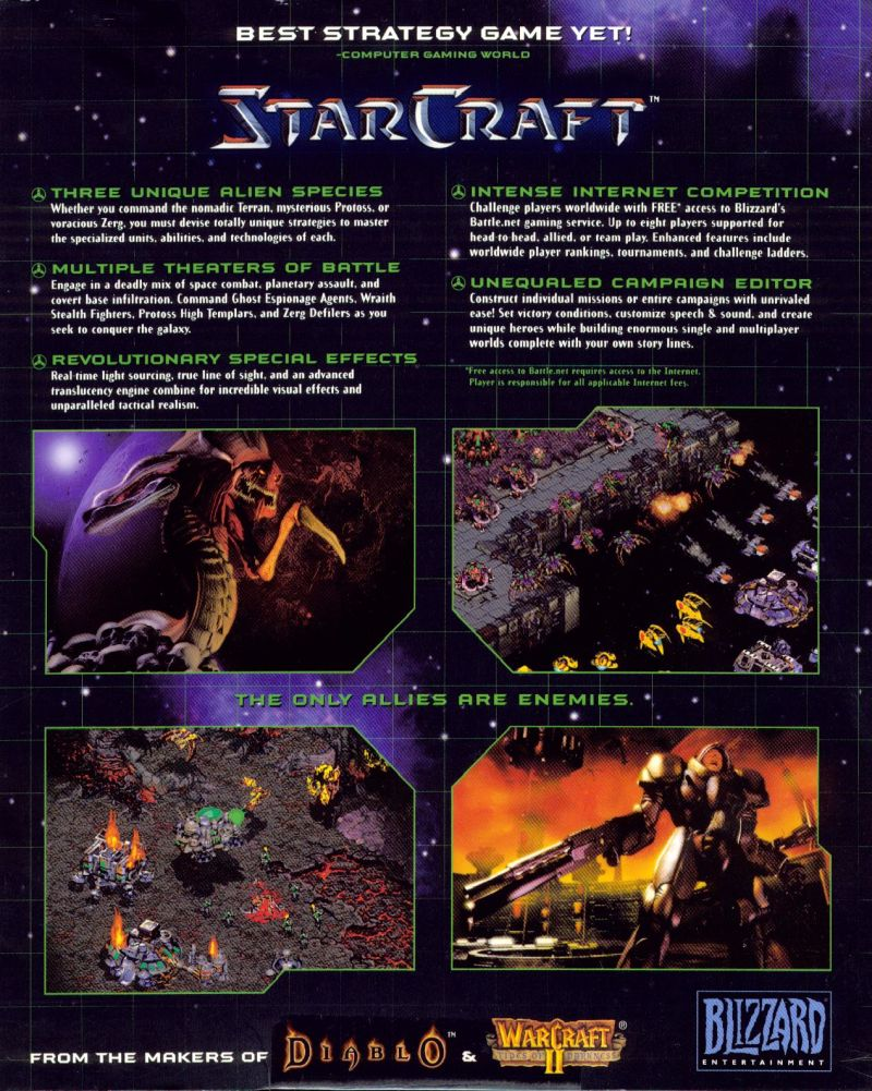 StarCraft Windows Back Cover