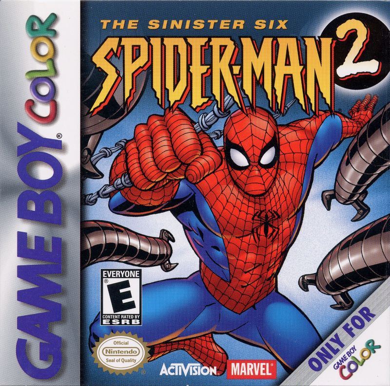 Spider-Man 2: The Sinister Six Game Boy Color Front Cover