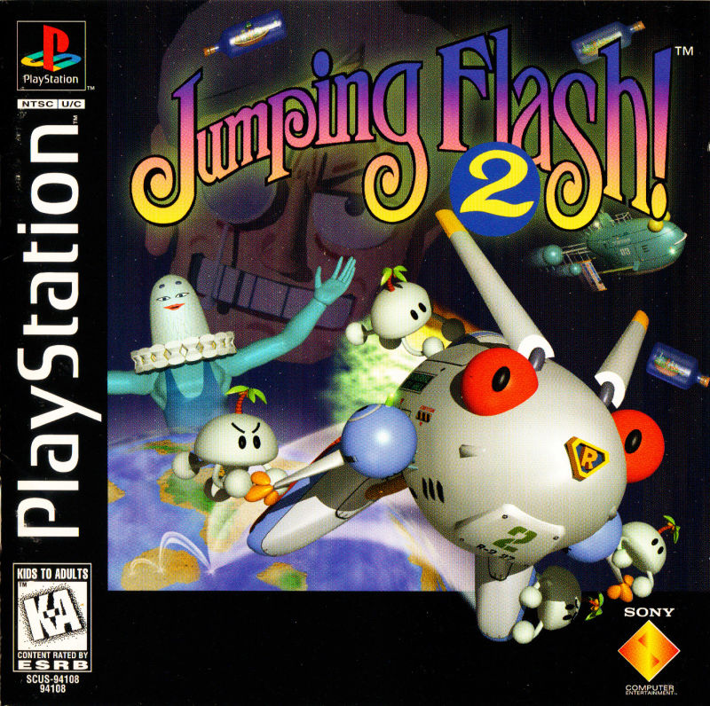 Jumping Flash! 2 PlayStation Front Cover