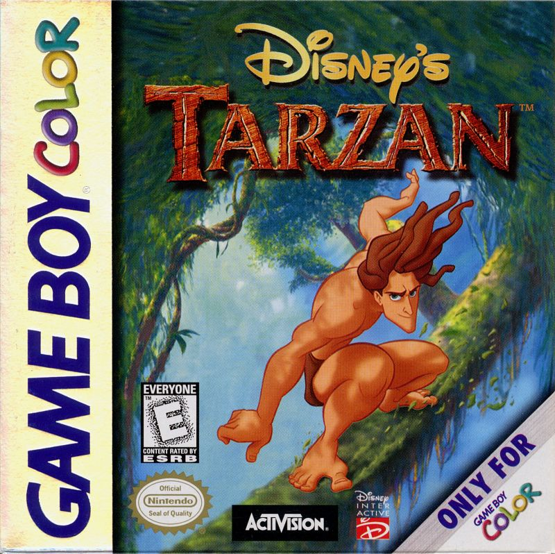 Disney's Tarzan Game Boy Color Front Cover