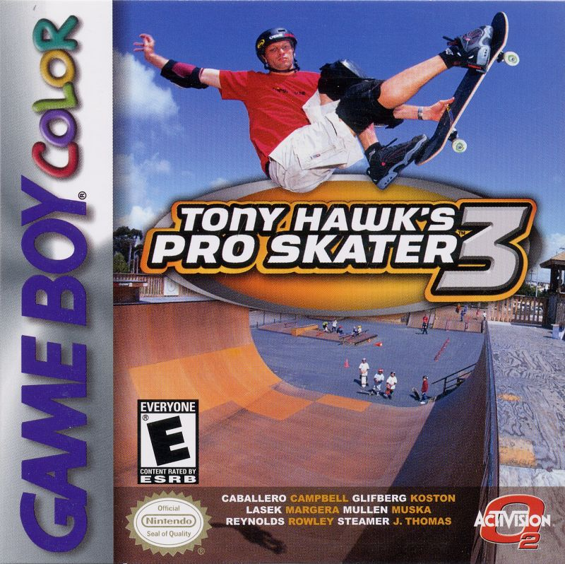 Tony Hawk's Pro Skater 3 Game Boy Color Front Cover