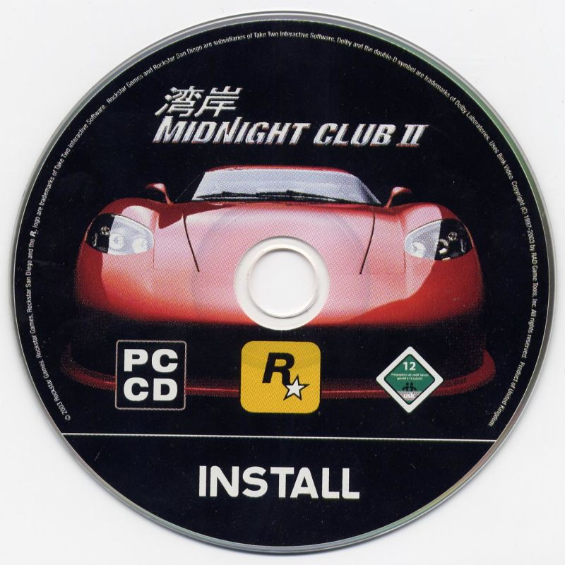 Midnight Club II Windows Media Install Disc