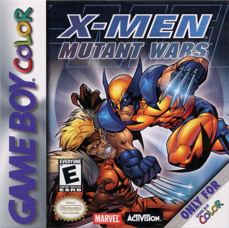 X-Men: Mutant Wars Game Boy Color Front Cover