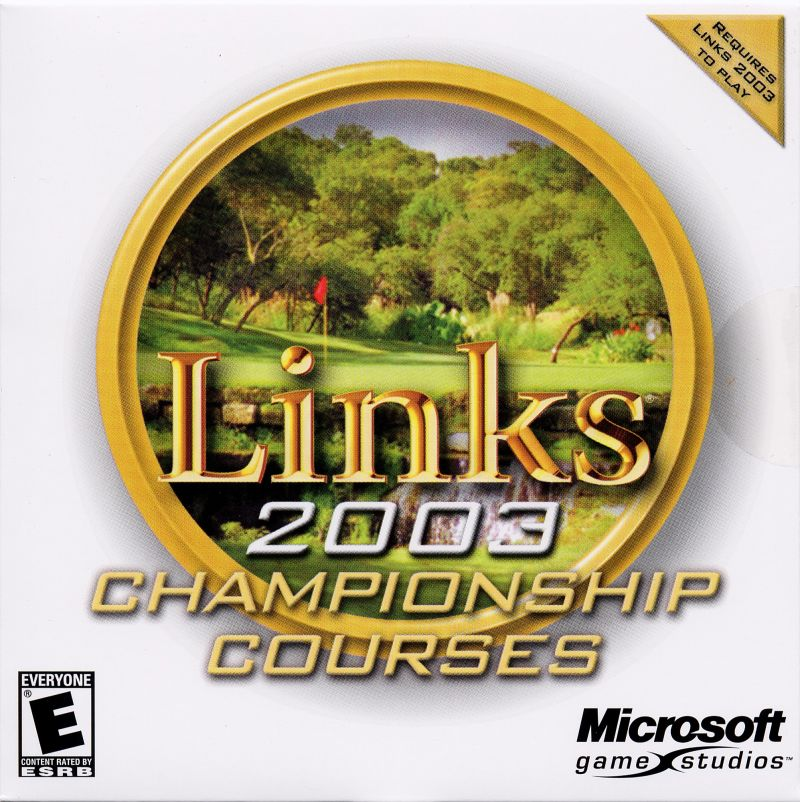 Links 2003: Championship Courses Windows Other Jewel Case - Front
