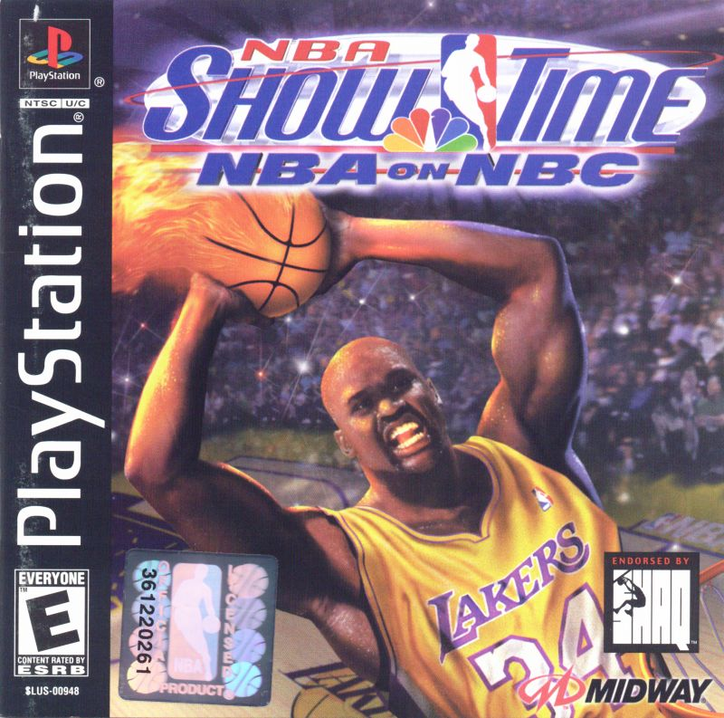 NBA Showtime: NBA on NBC PlayStation Front Cover