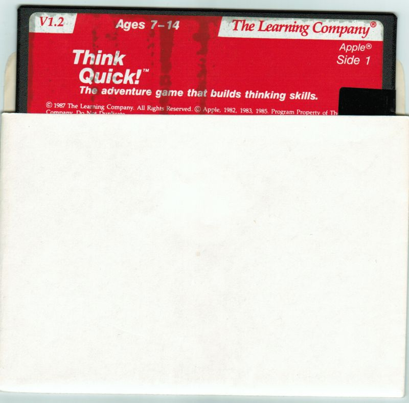 Think Quick! Apple II Media Game disk