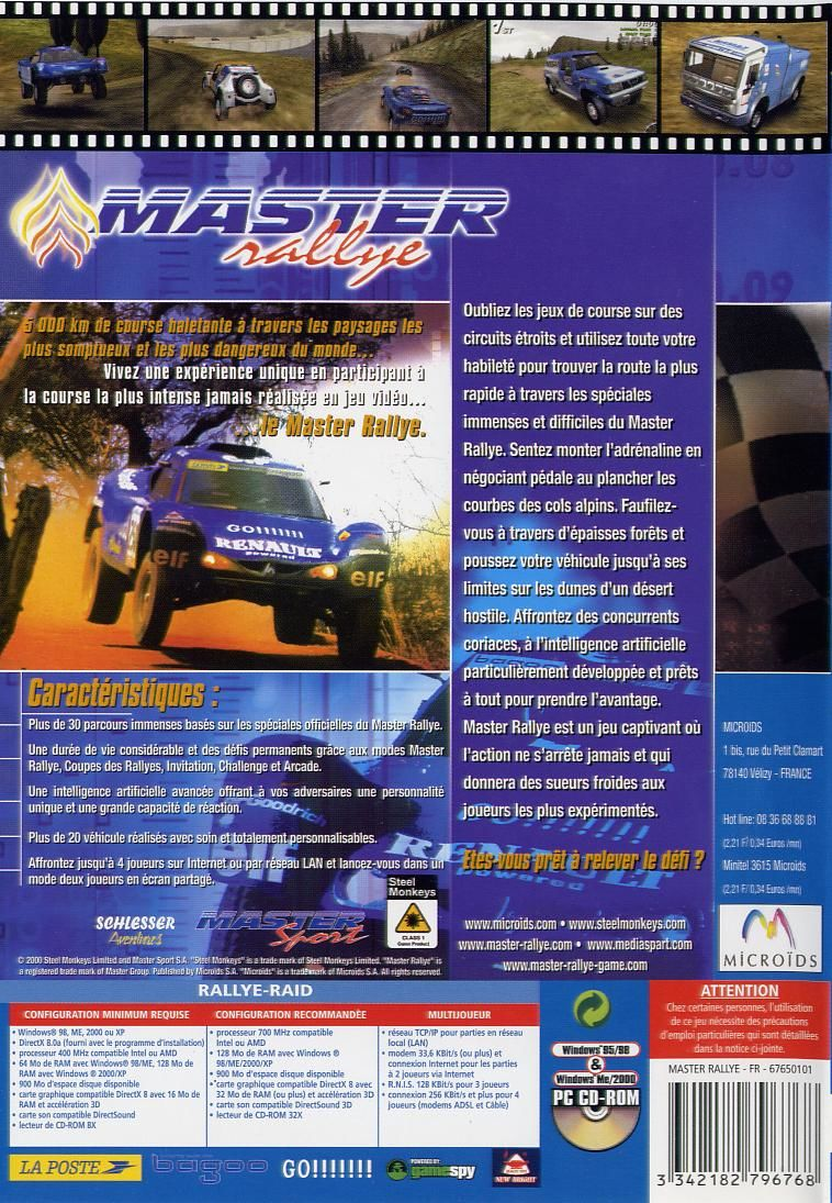 Master Rallye Windows Back Cover