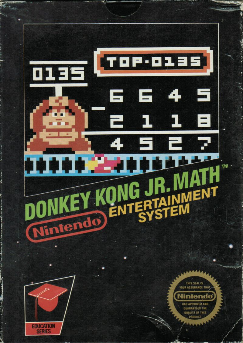 Donkey Kong Jr. Math NES Front Cover