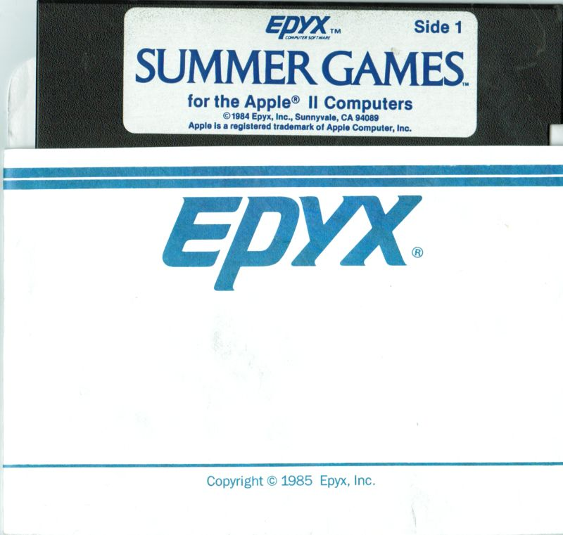 Summer Games Apple II Media