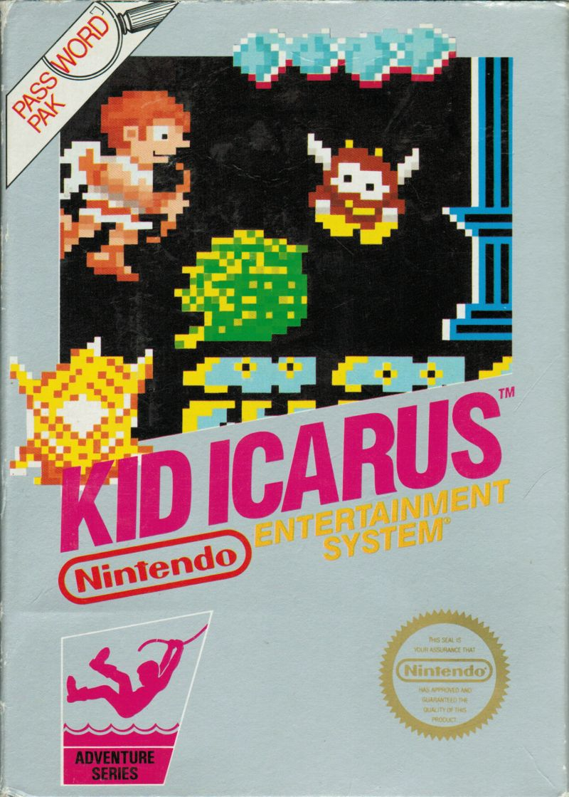 Kid Icarus NES Front Cover