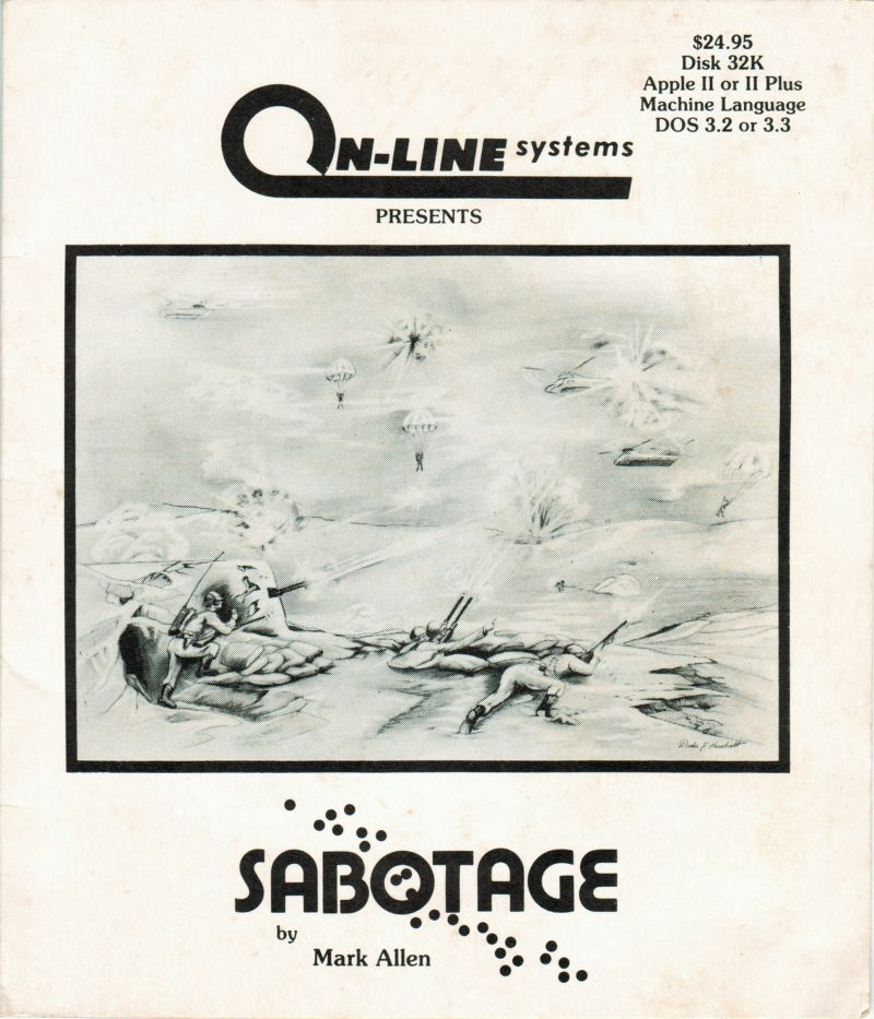 Sabotage Apple II Front Cover