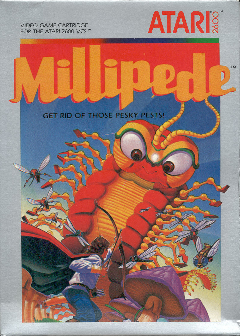 Millipede Atari 2600 Front Cover
