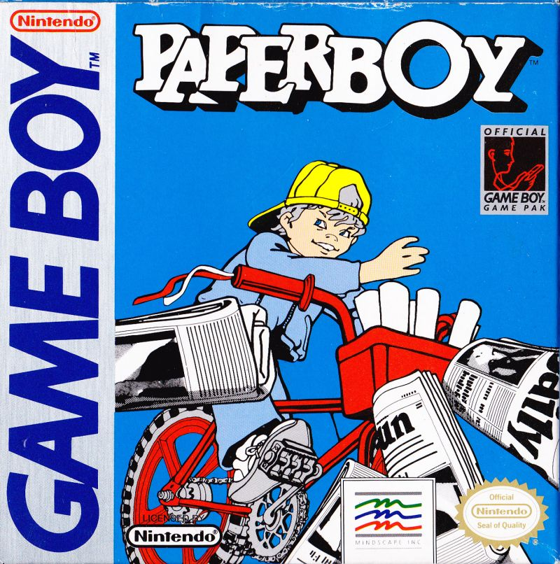 Paperboy Game Boy Front Cover