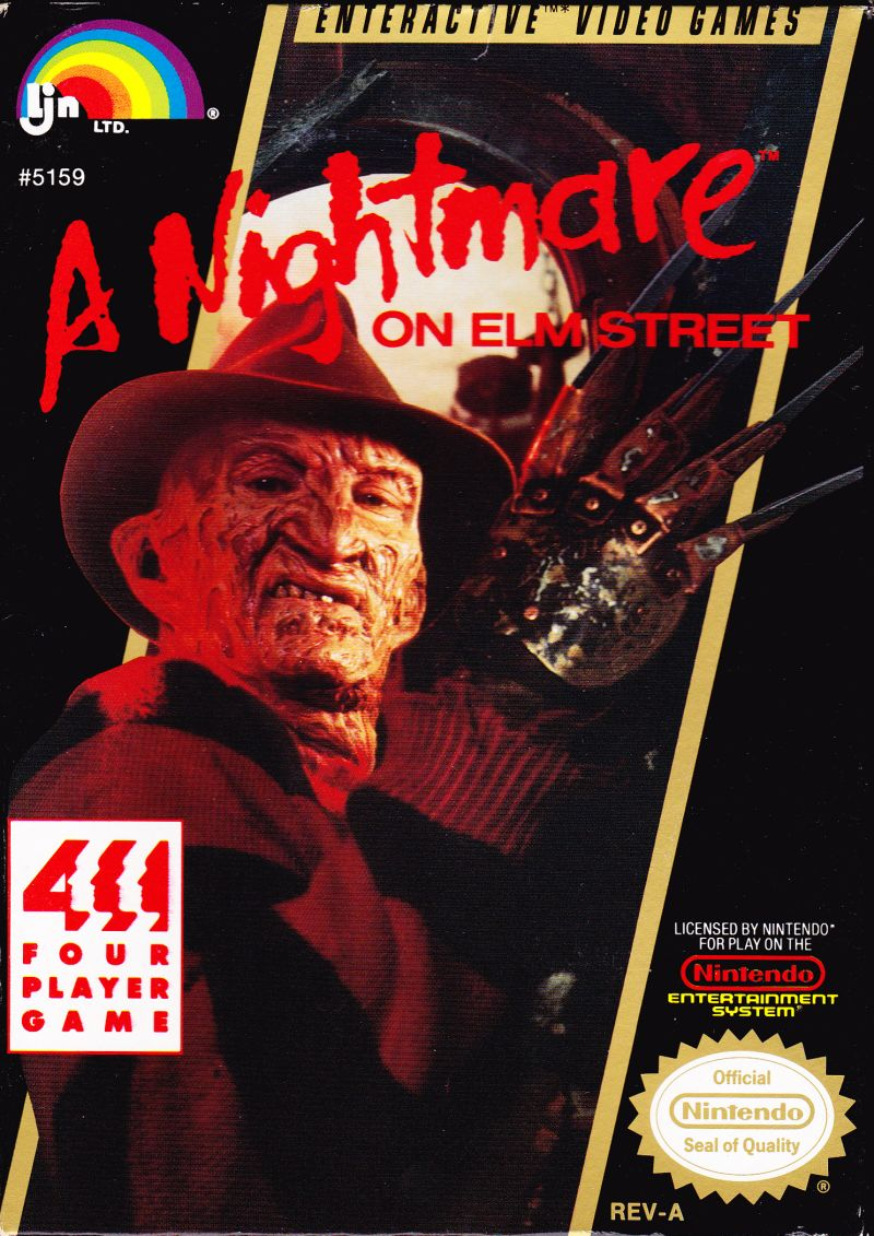 A Nightmare on Elm Street NES Front Cover