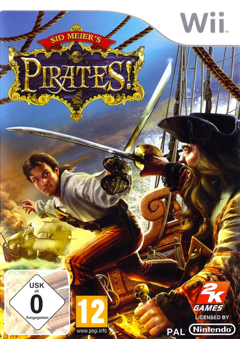 photo regarding Game Covers Printable named Sid Meiers Pirates!: Are living the Daily life (2010) Wii box address artwork