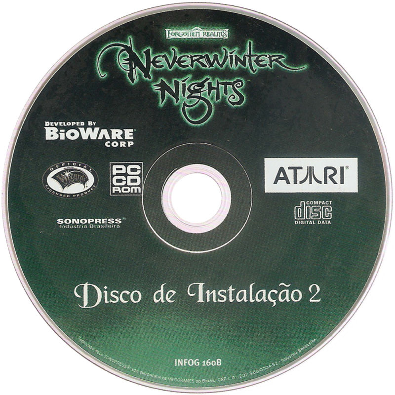 Neverwinter Nights Windows Media Installation Disc 2