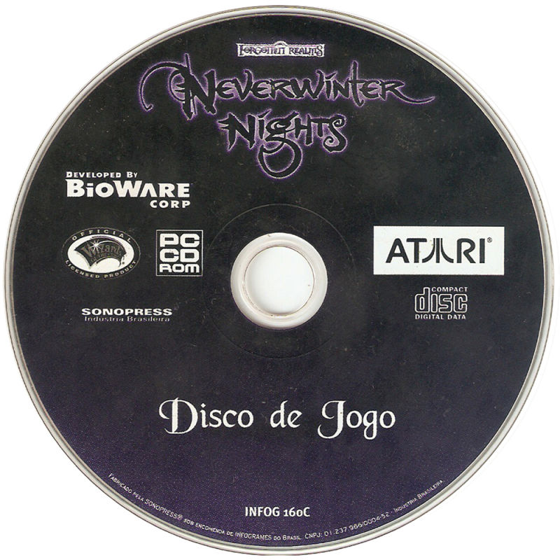 Neverwinter Nights Windows Media Game Disc