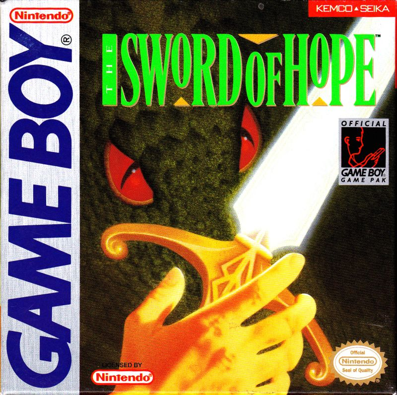The Sword of Hope Game Boy Front Cover