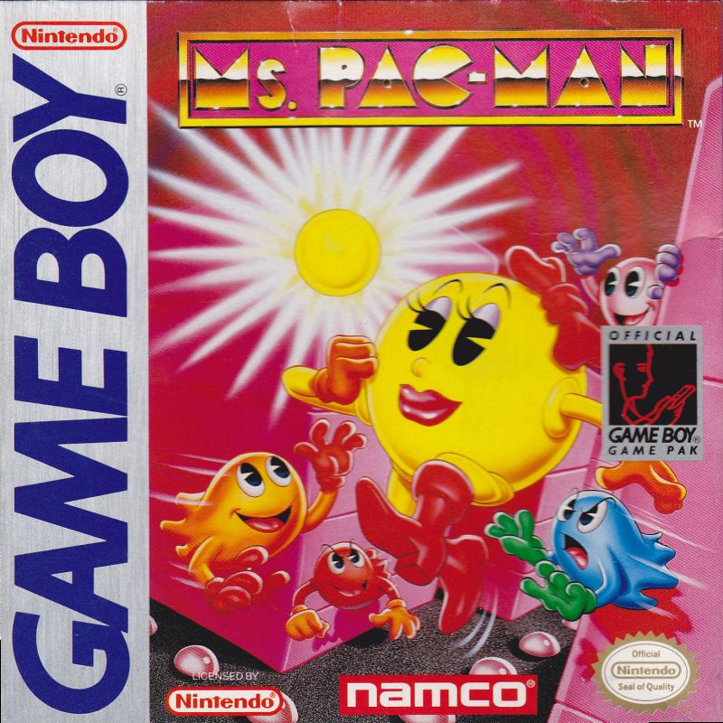 Ms. Pac-Man Game Boy Front Cover