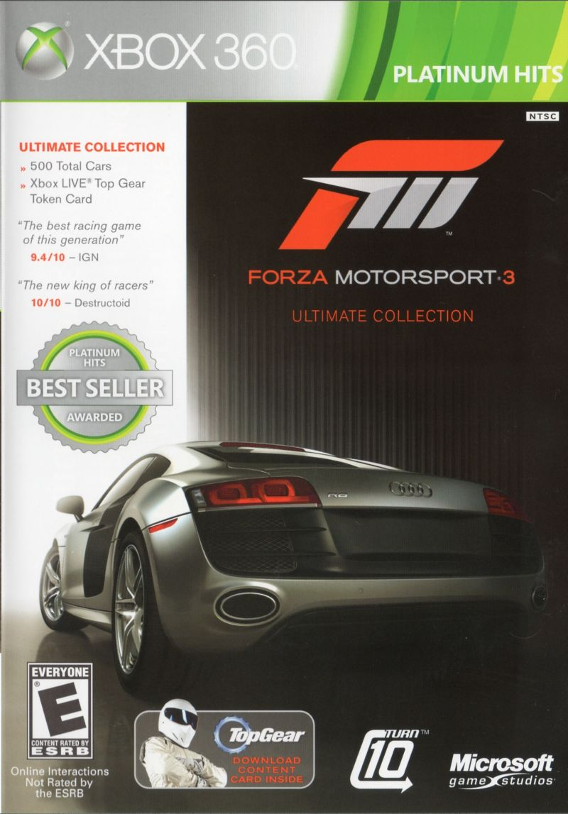 Forza Motorsport 3: Ultimate Collection Xbox 360 Front Cover