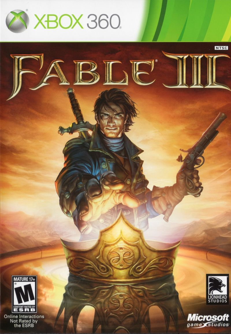 Fable III Xbox 360 Front Cover
