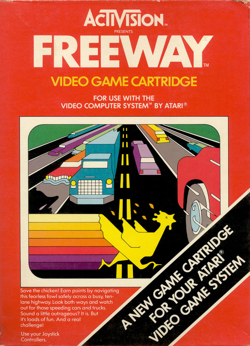 Freeway Atari 2600 Front Cover