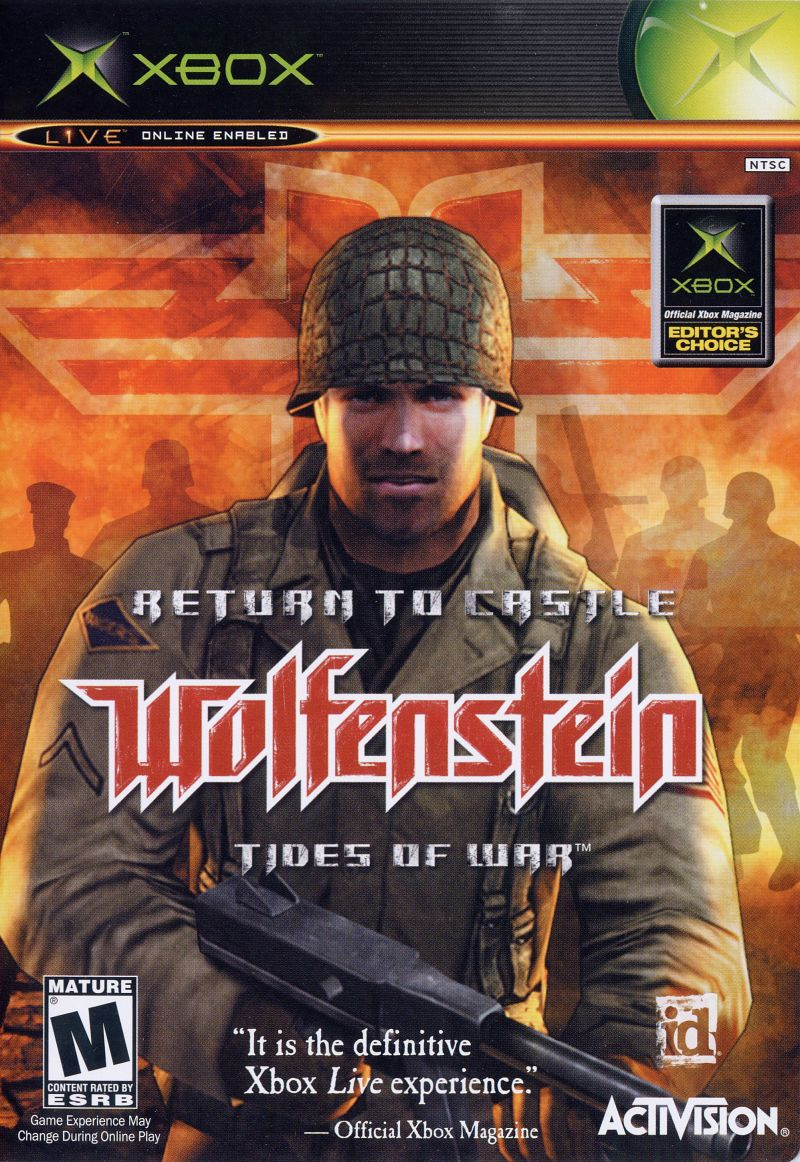 Return to Castle Wolfenstein: Tides of War Xbox Front Cover