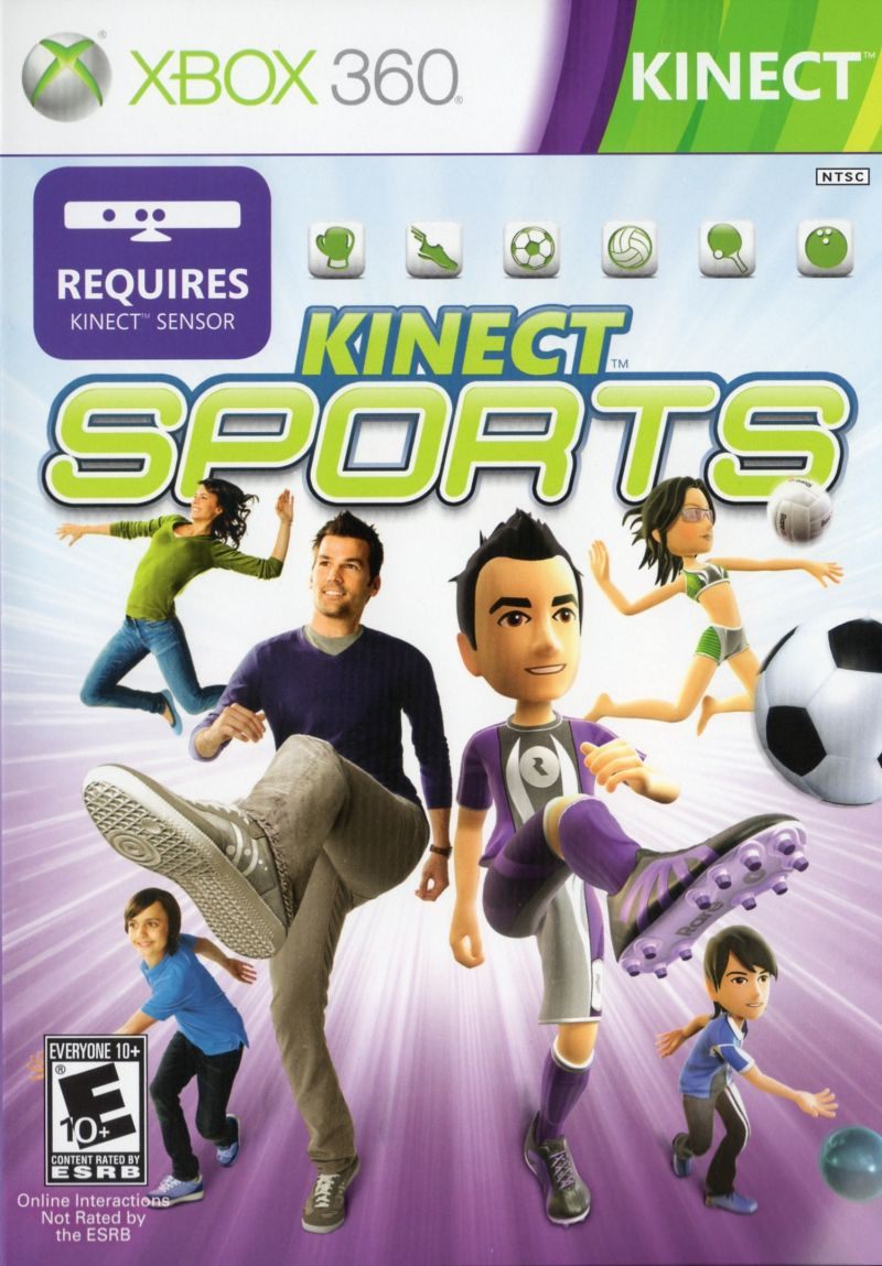 Kinect Sports Xbox 360 Front Cover