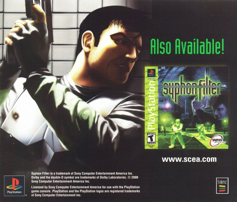 Syphon Filter 2 PlayStation Inside Cover Left