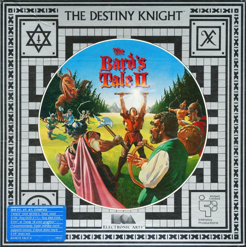 The Bard's Tale II: The Destiny Knight DOS Front Cover