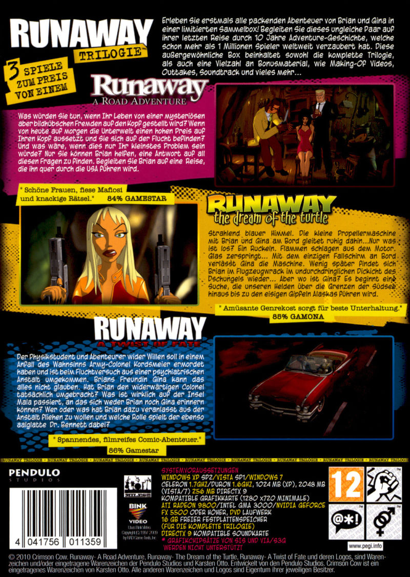 Runaway Trilogy Windows Back Cover