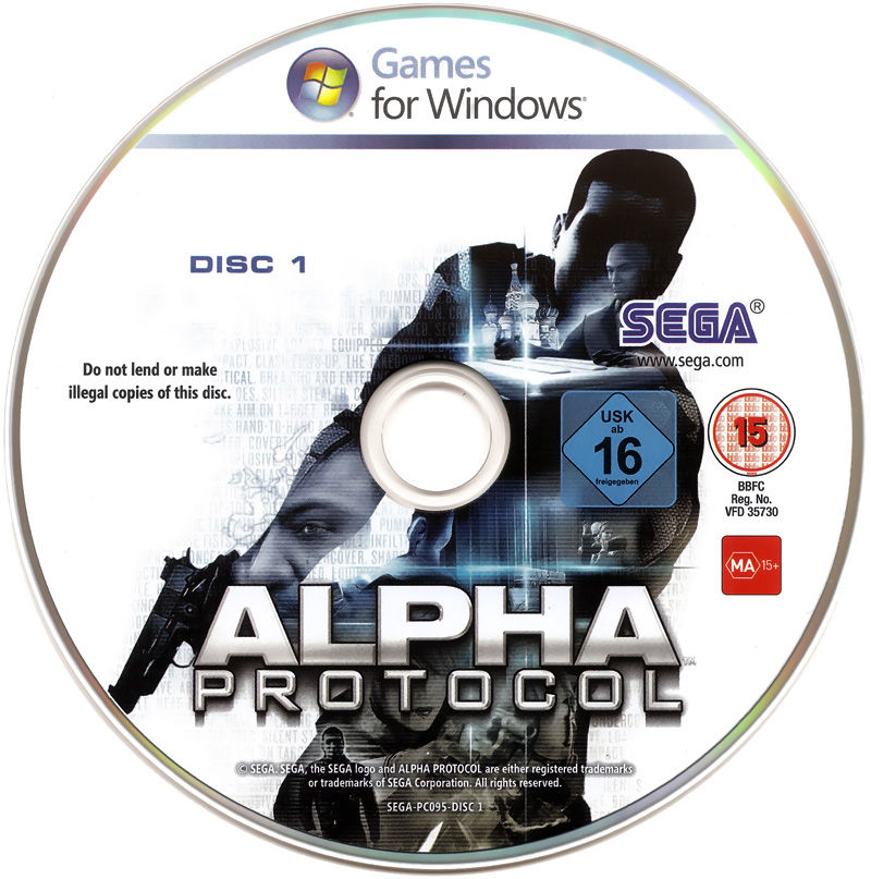 Alpha Protocol Windows Media Disc 1/2
