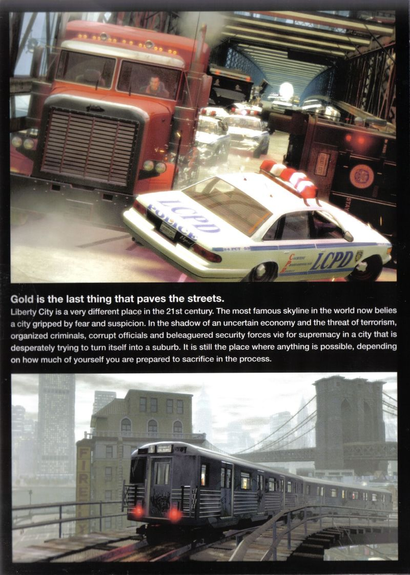 Grand Theft Auto IV Windows Inside Cover Left Flap
