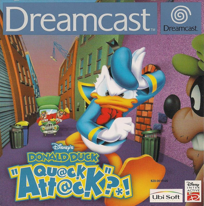 Disney's Donald Duck: Goin' Quackers Dreamcast Front Cover