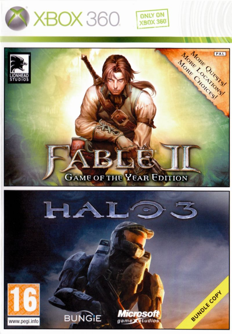Fable II + Halo 3 Bundle Xbox 360 Front Cover