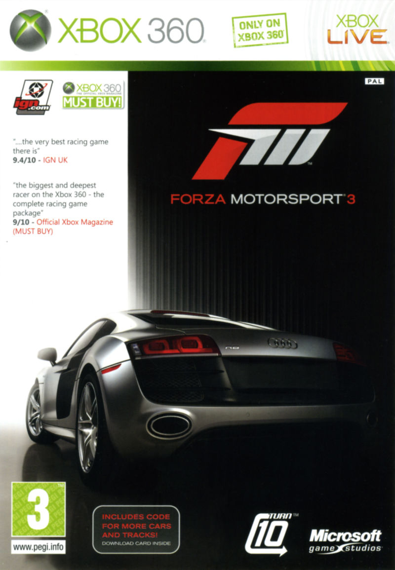 forza motorsport 3 for xbox 360 2009 mobygames. Black Bedroom Furniture Sets. Home Design Ideas