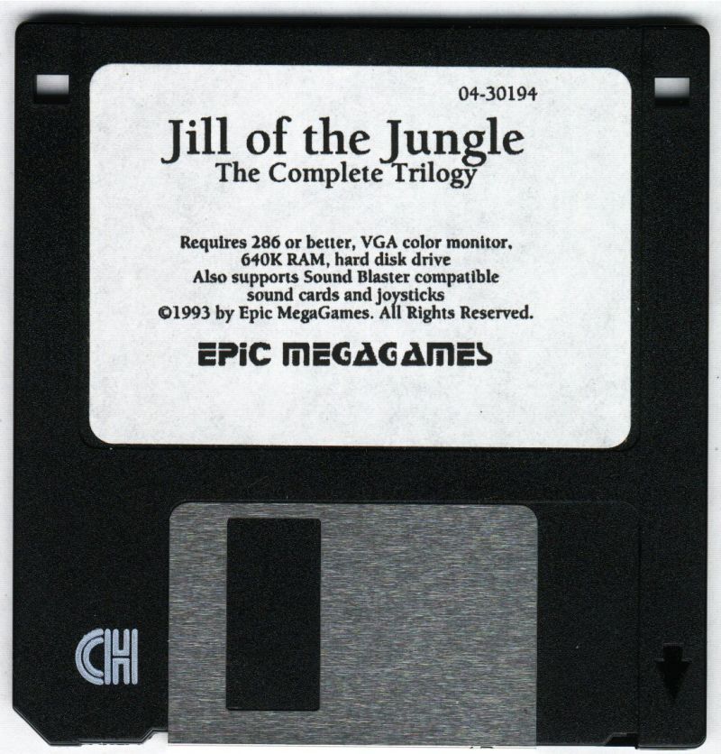 Jill of the Jungle: The Complete Trilogy DOS Media 3.5 Floppy Disk 1/1